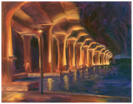 Roosevelt Bridge at Night Oil Painting